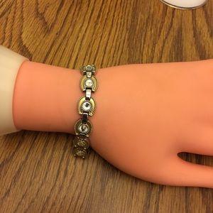 Jewelry - SABONA TWO TONE CLEAR RHINESTONE BRACELET